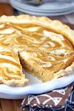 Torta do redemoinho do queijo creme da abóbora Foto de Stock