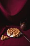 Torta do ruibarbo e da merengue Imagens de Stock Royalty Free