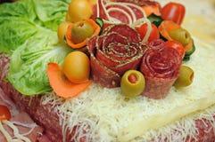 Torta do salame Fotos de Stock Royalty Free