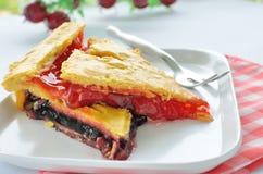 Torta doce com atolamento Imagens de Stock