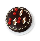 Torta doce com cereja decorada Foto de Stock
