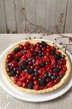 Torta dolce con la frutta fotografia stock