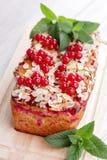 Torta dos corintos vermelhos Foto de Stock
