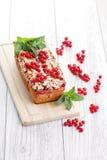 Torta dos corintos vermelhos Fotografia de Stock