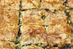 Torta dos espinafres Imagens de Stock