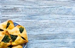 Torta dos espinafres com queijo da ricota Imagens de Stock