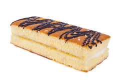 Torta dulce aislada en blanco Imagen de archivo libre de regalías