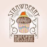 Torta dulce Bosquejo decorativo Foto de archivo libre de regalías