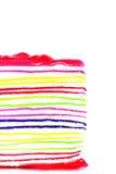 Torta dulce colorida del crespón Imágenes de archivo libres de regalías