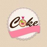 Torta dulce con Berry Menu Background Vector Illustration Imágenes de archivo libres de regalías