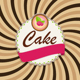 Torta dulce con Berry Menu Background Vector Illustration Imagenes de archivo