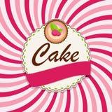 Torta dulce con Berry Menu Background Vector Illustration Foto de archivo