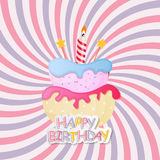 Torta dulce con Berry Menu Background Vector Illustration Fotos de archivo