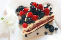 Torta dulce cremosa fotografía de archivo