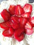Torta dulce de la fresa foto de archivo