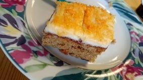 Torta dulce de la zanahoria Foto de archivo