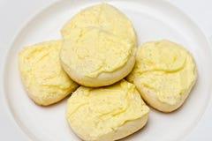 Torta dulce del limón Fotos de archivo libres de regalías