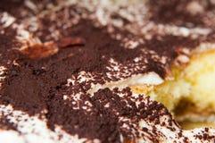 Torta dulce del tiramisu Fotos de archivo libres de regalías
