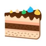 Torta dulce en estilo plano Imágenes de archivo libres de regalías