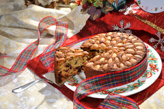 Torta Dundee decorata Obraz Royalty Free