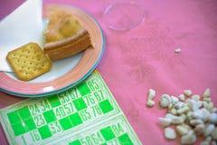 Torta e bingo Fotografie Stock