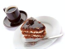 Torta e caffè Immagine Stock Libera da Diritti