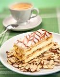 Torta e caffè Immagini Stock Libere da Diritti