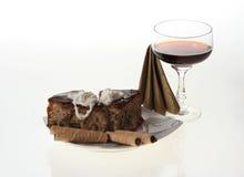Torta e caffè Immagini Stock