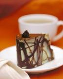 Torta e caffè di cioccolato fotografia stock