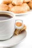 Torta e chávena de café Imagem de Stock