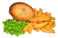 Torta e Chips With Peas Imagens de Stock Royalty Free