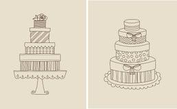 Torta e giflts Fotografia Stock