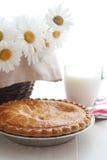Torta e leite de Apple fotografia de stock royalty free