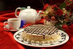 torta e tè Immagini Stock
