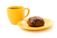 Torta e tè Fotografia Stock
