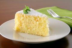 Torta e tè arancioni Immagini Stock Libere da Diritti
