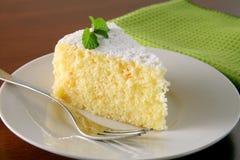 Torta e tè arancioni Fotografia Stock