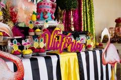 Torta 5 el cumpleaños del Victoriaen julio imagen de archivo