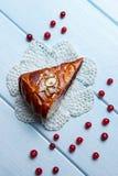 Torta em um guardanapo branco Fotografia de Stock