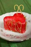 Torta en forma de un corazón Fotos de archivo libres de regalías