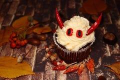 Torta en Halloween - mal Imagen de archivo libre de regalías