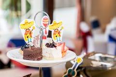 Torta en hotel Imagen de archivo libre de regalías
