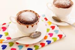 Torta en una taza Imagen de archivo