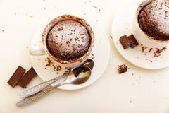 Torta en una taza Fotografía de archivo libre de regalías