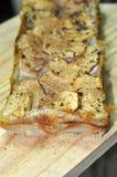 Torta entera del plátano del grano Imagenes de archivo