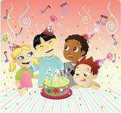 Torta felice di Bithday Fotografia Stock