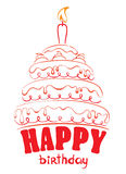 Torta - feliz cumpleaños Foto de archivo