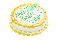 Torta feliz de la graduación Foto de archivo libre de regalías