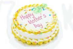 Torta feliz del día de madre Fotos de archivo libres de regalías
