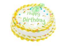 Torta festiva del feliz cumpleaños Imagen de archivo